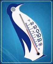 """Термометр бытовой для холодильника """"Пингвин"""" ТБ-3М-1 исп.25 (-30...+20), ц.д.1, основание-пластмасса, присоска, 135х60мм"""
