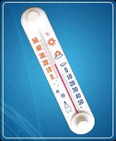 Термометр бытовой оконный ТБ-3-М1 исп.11 (-50...+50) ц.д.1, основание-пластмасса, крепление-липучка