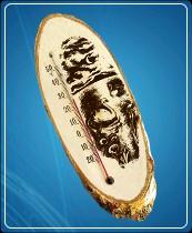 """Термометр бытовой сувенирный """"Березка"""" Д-10 исп.3 (-20...+50*С) ц.д.1, основание-дерево"""