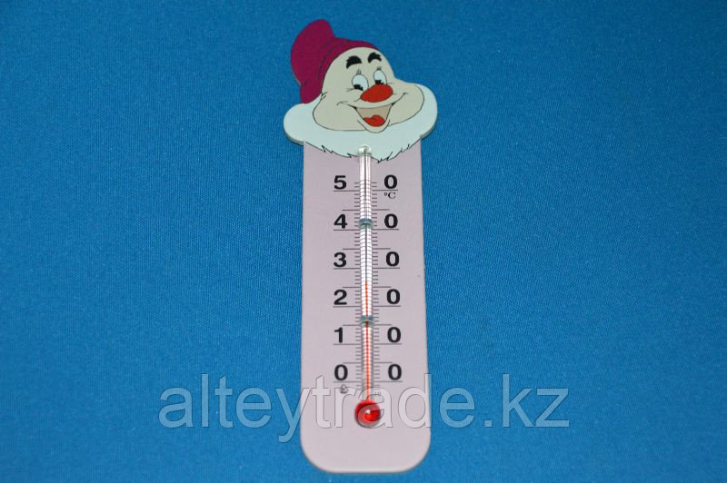 """Термометр бытовой сувенирный """"Гномик"""" (0...+50) ц.д.1, основание-картон, крепление-липучка"""