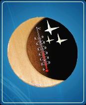 """Термометр бытовой сувенирный """"Звездная ночь"""" Д-15 (0...+50) ц.д. 1, основание-дерево"""