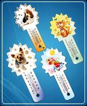 """Термометр бытовой сувенирный """"Любимчик"""" (0...+50) ц.д.1, основание-картон, крепление-липучка"""