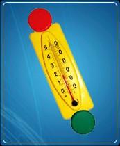 """Термометр бытовой сувенирный """"Светофор"""" П-16 (0...+50) ц.д.1, основание-пластмасса"""