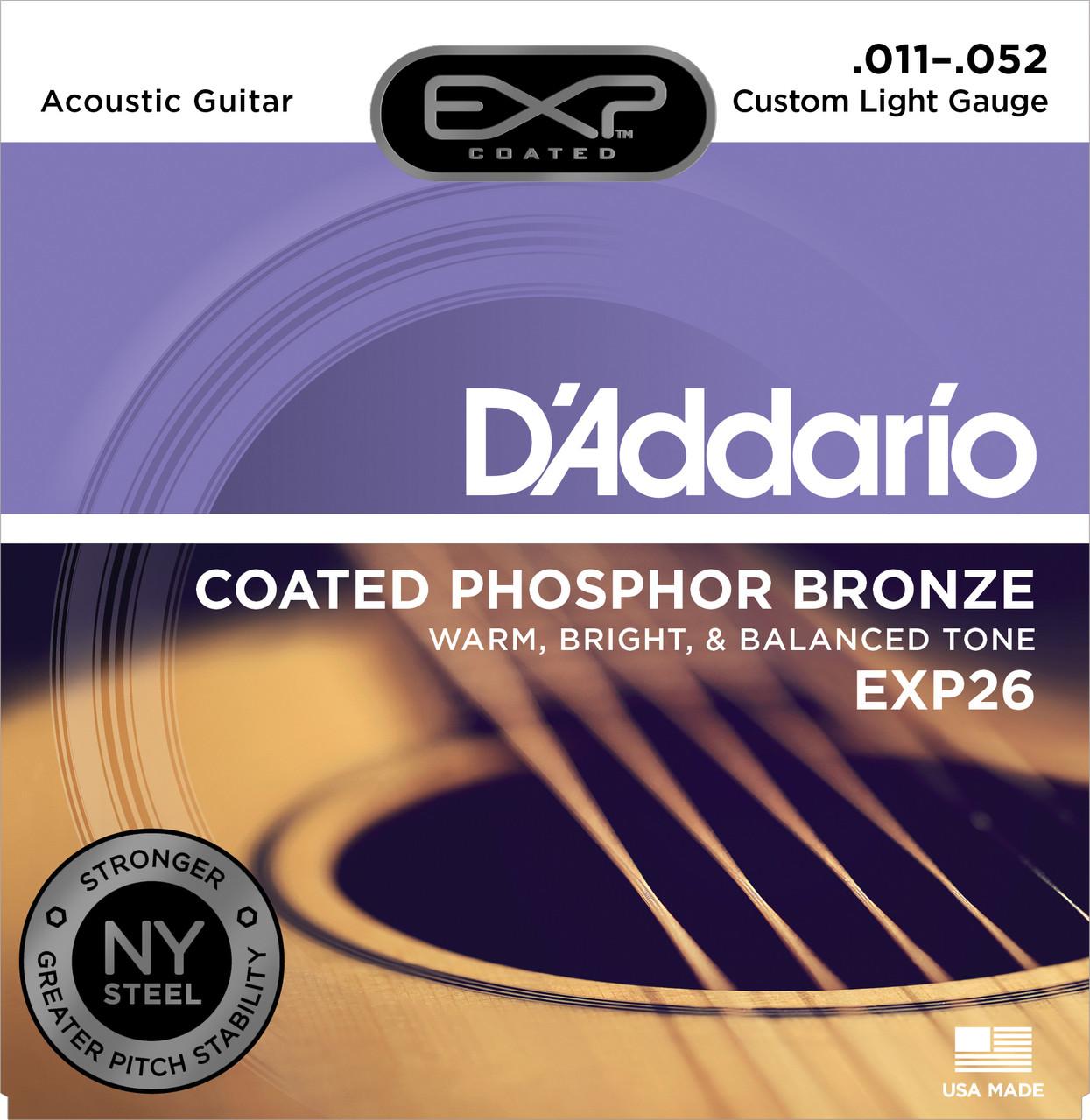 Струны для акустической гитары  Daddario EXP26