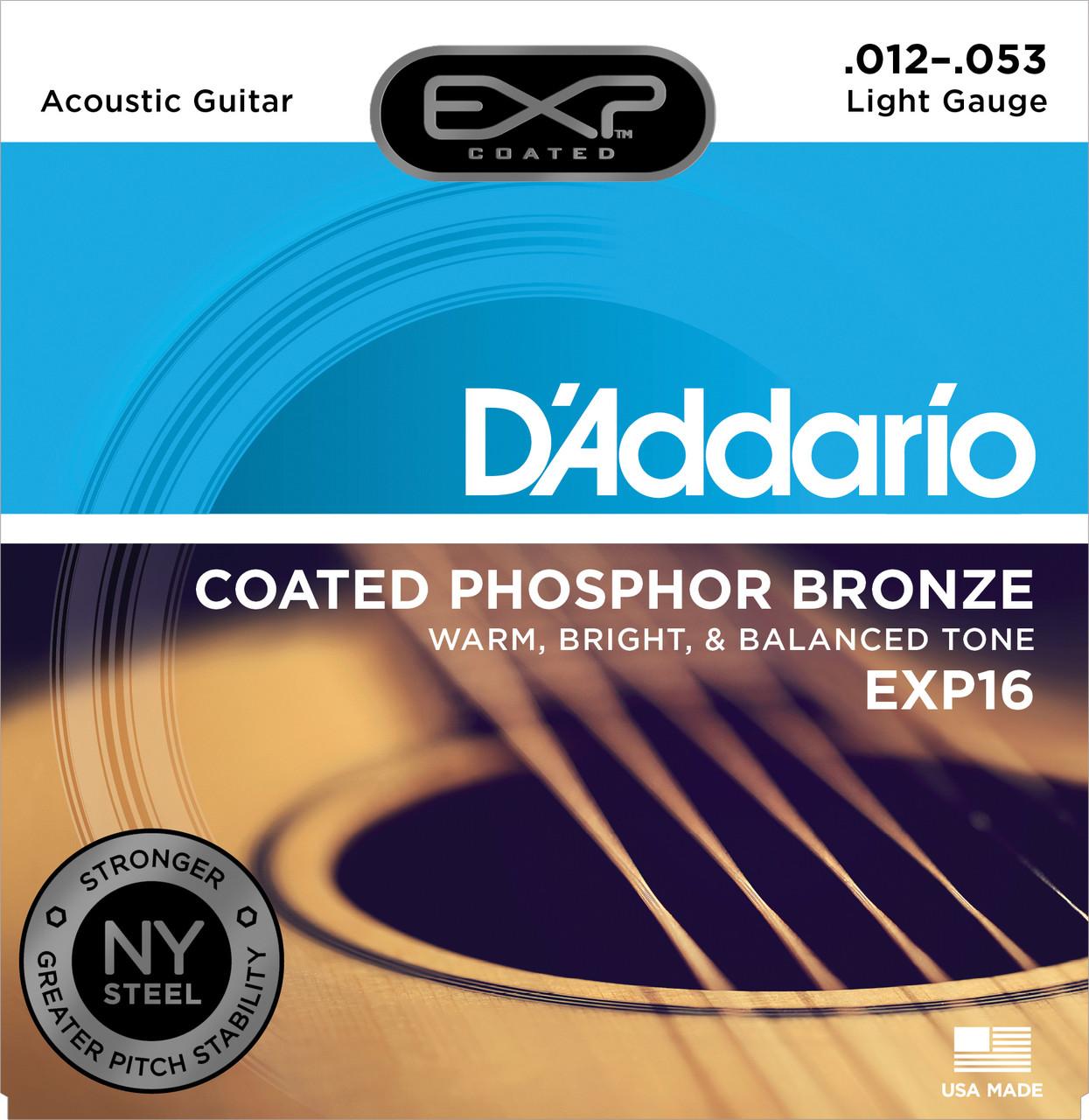 Струны для акустической гитары  Daddario EXP16