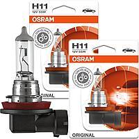 Лампа галогенная H11 55W 12V PGJ19-2 OSRAM ORIGINAL LINE