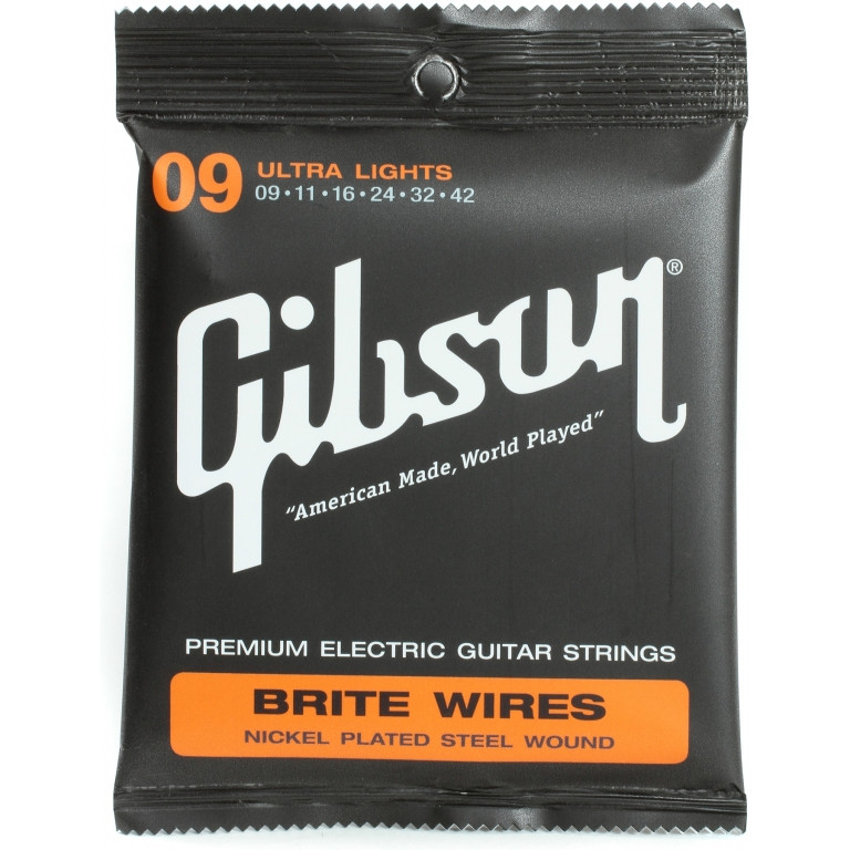 Струны электрогитарные Gibson Brite Wires SEG-700UL (9-42)