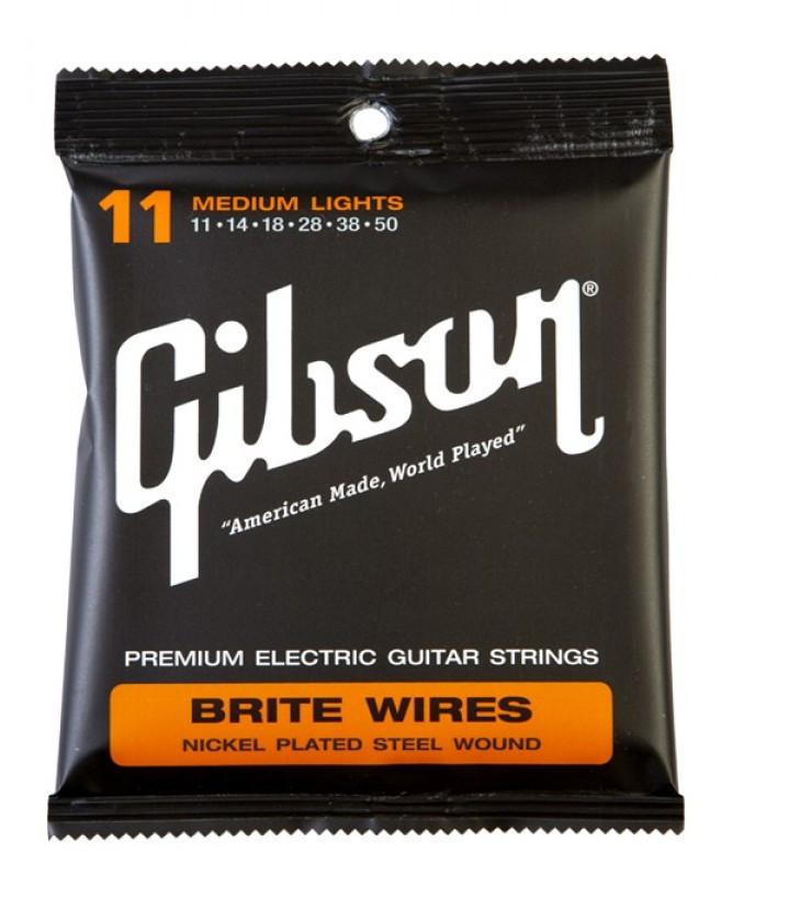 Струны электрогитарные Gibson Brite Wires SEG-700ML (11-50)