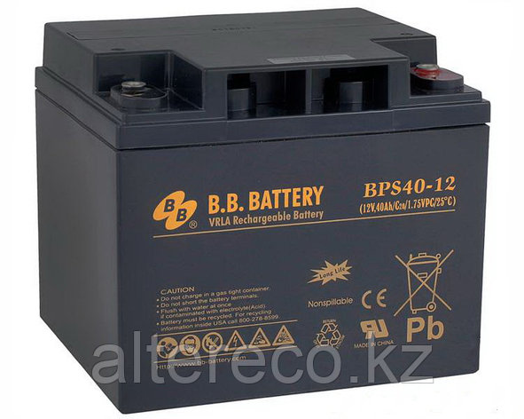 Аккумулятор B. B. Battery BPS40-12 (BPS40-12FR) (12В, 40Ач), фото 2