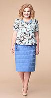 Платье Romanovich-1-1084/1, голубые тона, 56