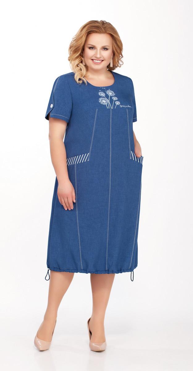 Платье Теллура-Л-1433, васильковый, 56