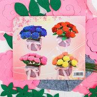 Набор для создания букета из фетра 'Розы', цвет розовый