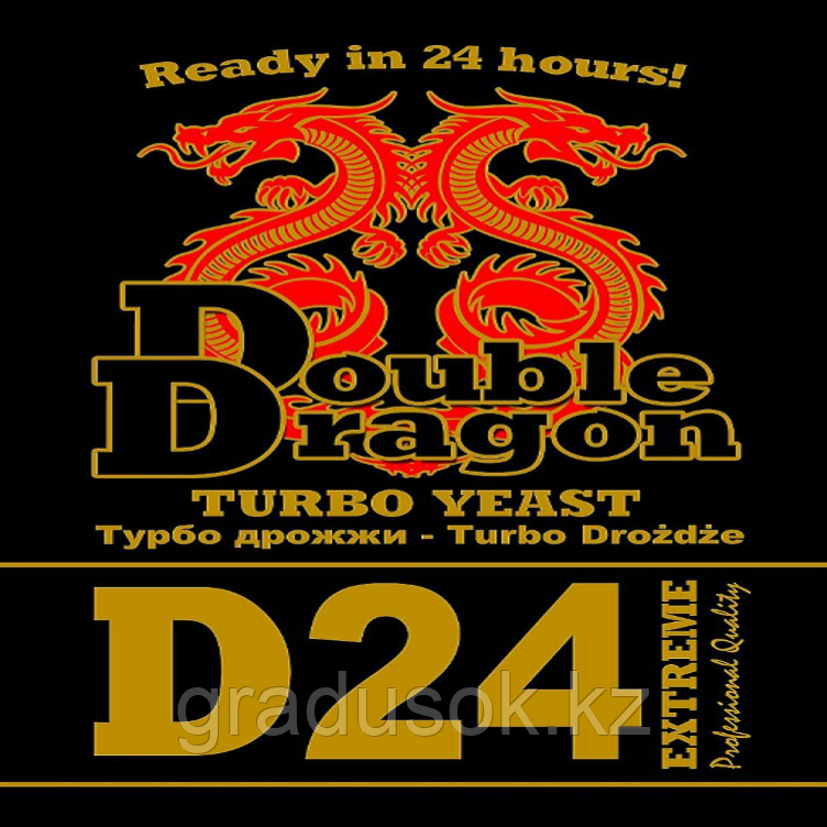 Дрожжи спиртовые Double Dragon D 24