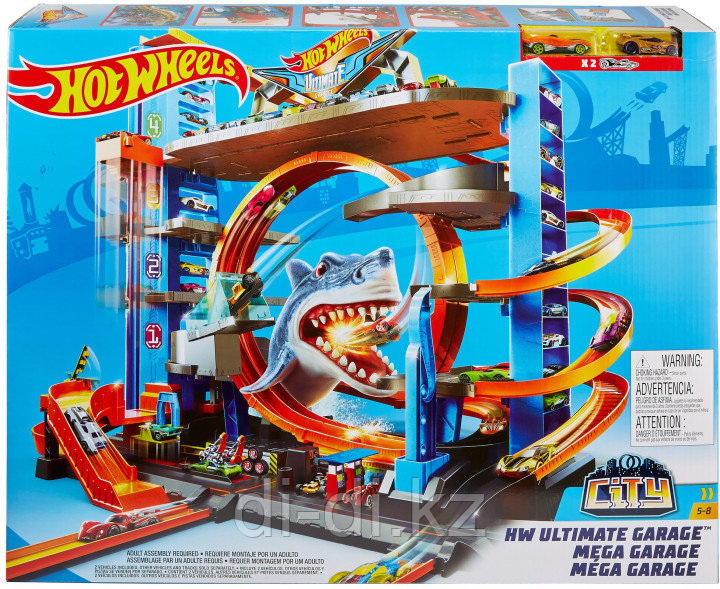 Трек Mattel Hot Wheels City HW Ultimate Garage / Легендарный гараж с акулой