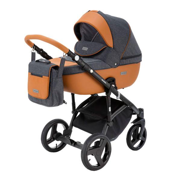 Детская коляска Adamex 3 в 1 Massimo каучуковые колеса v11