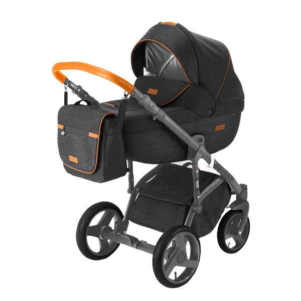 Детская коляска Adamex 3 в 1 Massimo каучуковые колеса v30