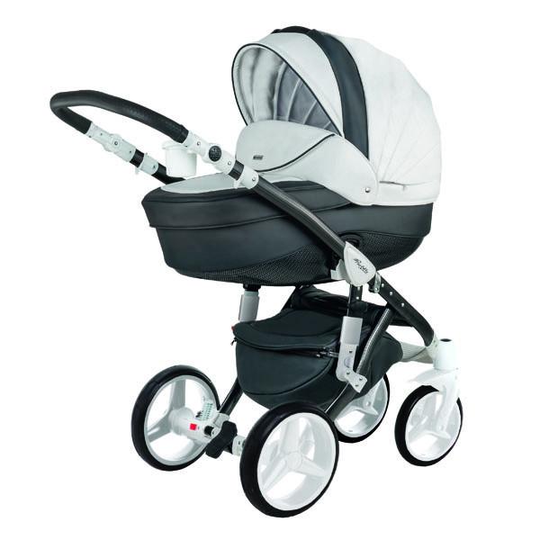 Детская коляска Adamex 3 в 1 Barletta Deluxe каучуковые колеса 18s