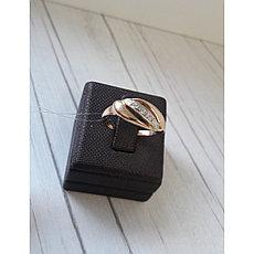 Золотое кольцо / фианиты / 17,5 размер