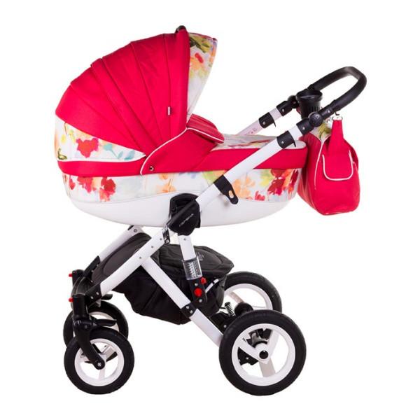 Детская коляска Adamex 3 в 1 Barletta Flowers 136G