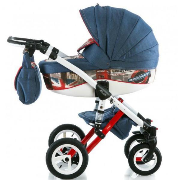Детская коляска Adamex 3 в 1 Barletta World Collection RedBus