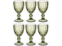 Набор фужеров для напитков из цветного стекла 320 мл (6 штук)