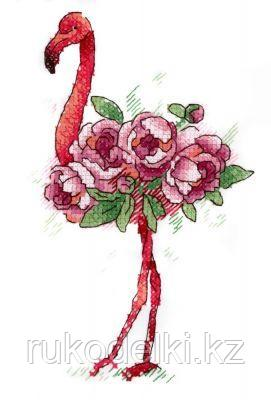 "Набор для вышивки на одежде ""Фламинго"""