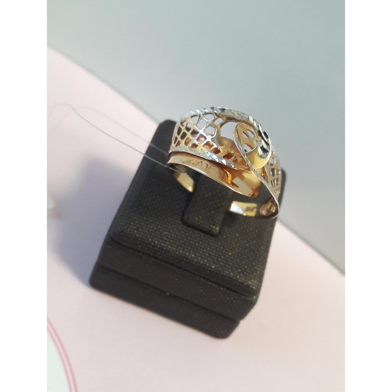 Кольцо золотое / 18 размер (Россия)