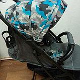 Прогулочная коляска Mstar (Baby Grace) Серый Камуфляж, фото 3