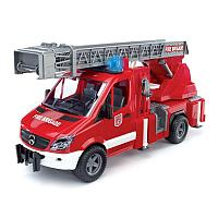 MB Sprinter пожарная машина Bruder с лестницей и помпой с модулем со световыми и звуковыми эффектами 02-532