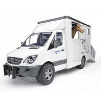 Игрушка Bruder 02-533 Mercedes-Benz Sprinter фургон с лошадью, фото 1