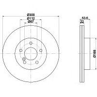 Тормозные диски Mercedes E-Class W210 430 4-matic, 55 AMG ( задние, Optimal)