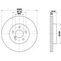 Тормозные диски Mercedes SLK (R170) 32 AMG Kompressor ( задние, Optimal)