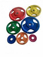 Диск олимпийский Grome WP012 цветной обрезиненный (1,25 кг)