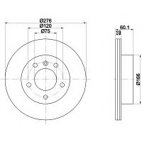 Тормозные диски BMW (E46) объем 1.8-2.8 л. (задние, ProTechic)