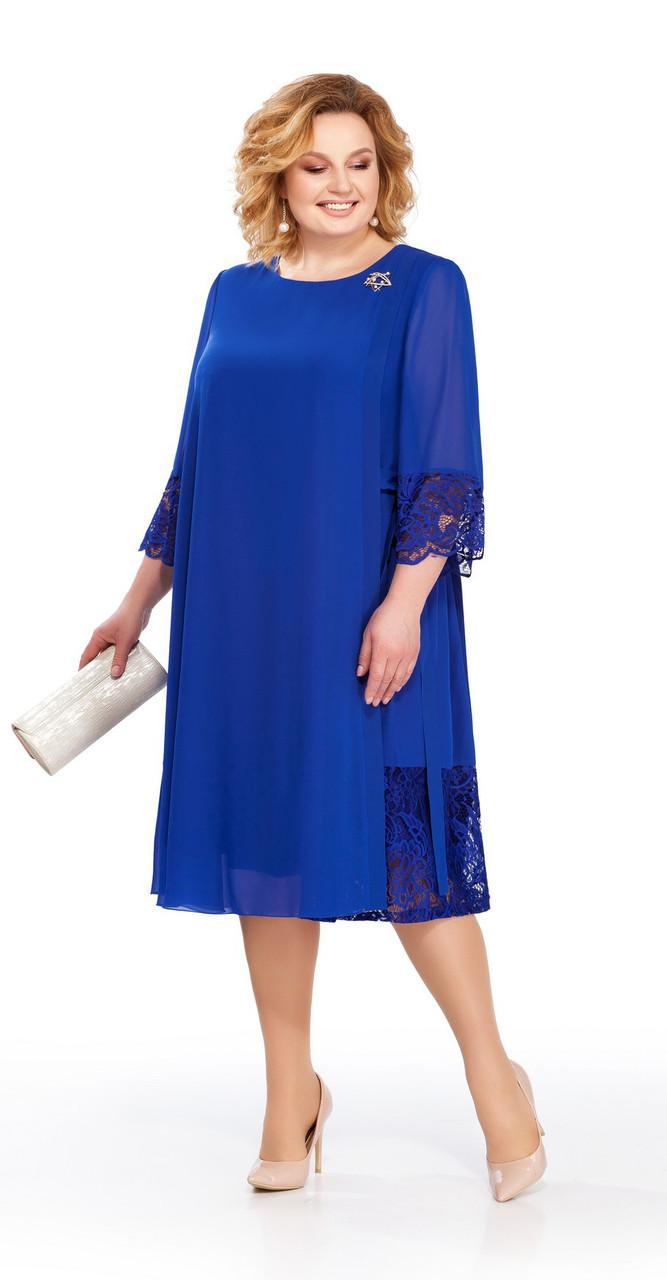 Платье Pretty-837/2, василек, 56