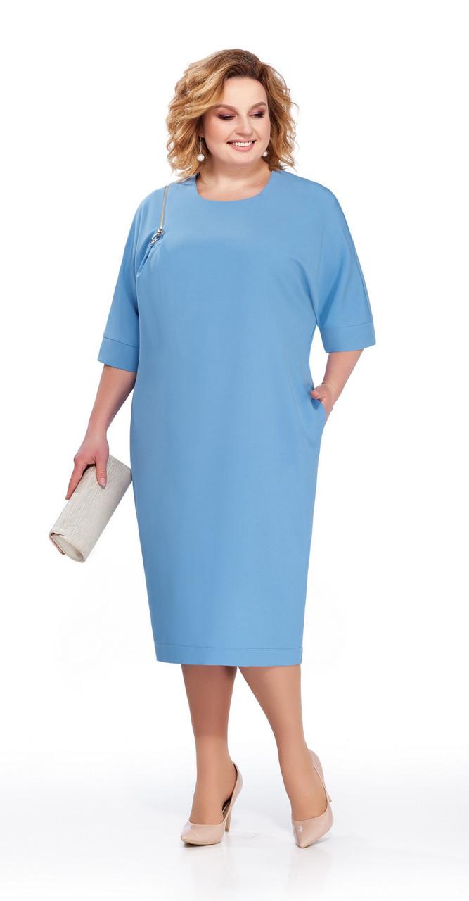 Платье Pretty-839/2, голубой, 56