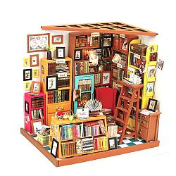 """Robotime Интерьерный конструктор """"Миниатюрный дом Diy: Библиотека"""""""