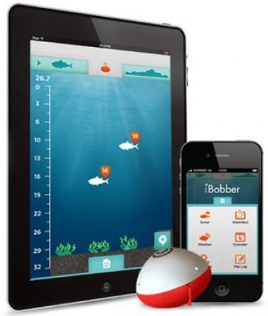 IBOBBER может передавать данные как на смартфон, так и на планшет