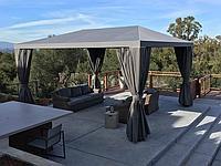 Пошив штор из тентовой ткани, для беседок, террас, балконов,
