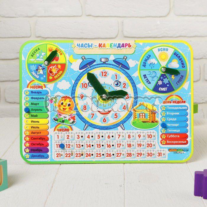 "Woodland Деревянный набор ""Часы-Календарь №4"""