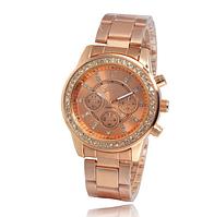 Часы Женева металлический ремешок