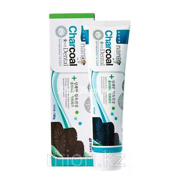 Зубная паста с серебром и бамбуковым углем NANO Charcoal Dental