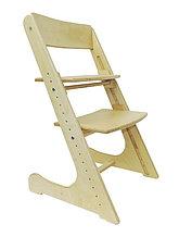 Детский растущий (регулируемый) стул. Ортопедический стул. (лакированный)