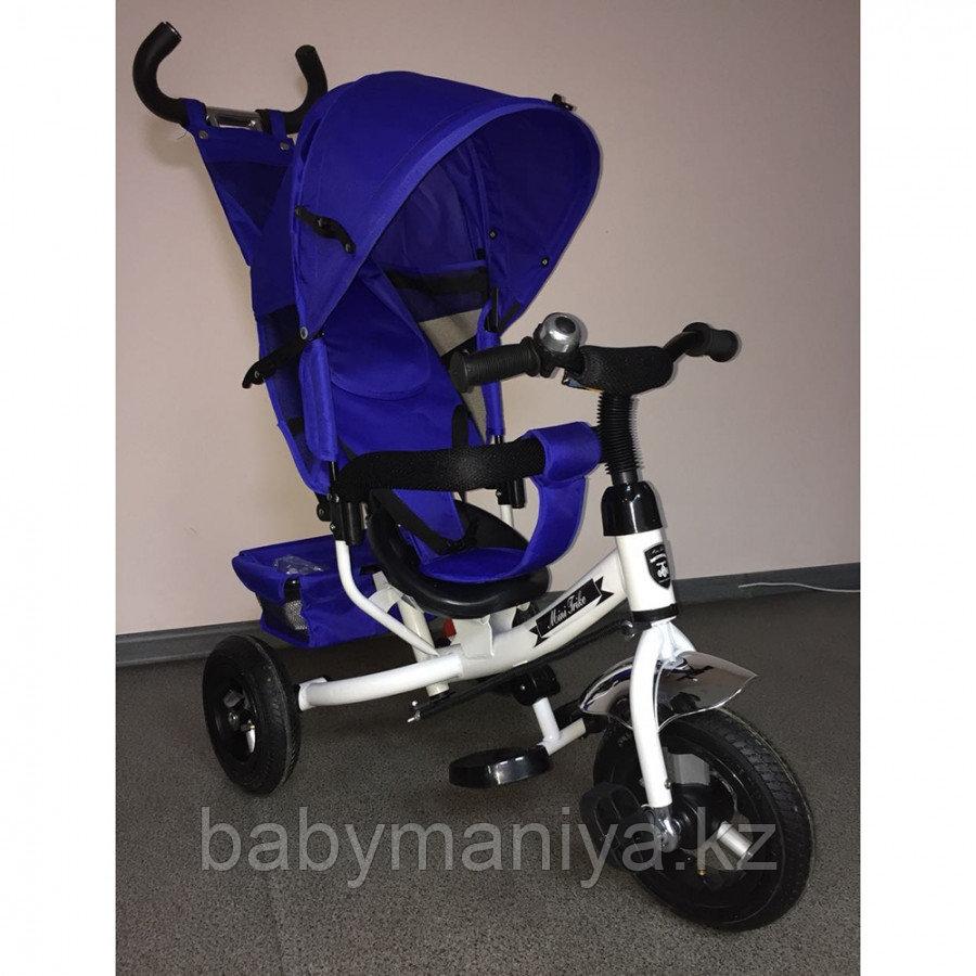 Трехколесный велосипед MINI TRIKE 950D синий, белая рама