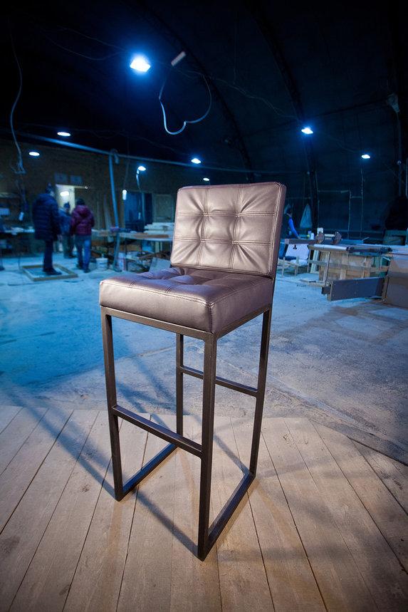 Барный стул с мягким сиденьем , фото 2