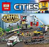 Конструктор Lego City Trains Товарный поезд Lepin 02118 KING 82088 аналог Лего 60198, фото 4