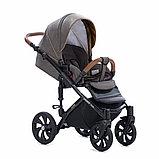 Детская коляска Tutis Mimi Style 2 в 1 Лен Капучино + кожа Беж, фото 6