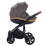 Детская коляска Tutis Mimi Style 2 в 1 Лен Капучино + кожа Беж, фото 3