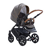 Детская коляска Tutis Mimi Style 2 в 1 Лен Капучино + кожа Беж, фото 4