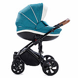 Детская коляска Tutis Mimi Style 2 в 1 Цвет морской волны + Кожа белая, фото 3